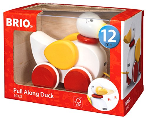 51t6T1F6aPL - BRIO World - 30323 Pull Along Duck Baby Toy | The Perfect Playmate for Your Toddler