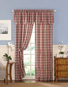 CHF Industries London Plaid Tailored Curtain Panel