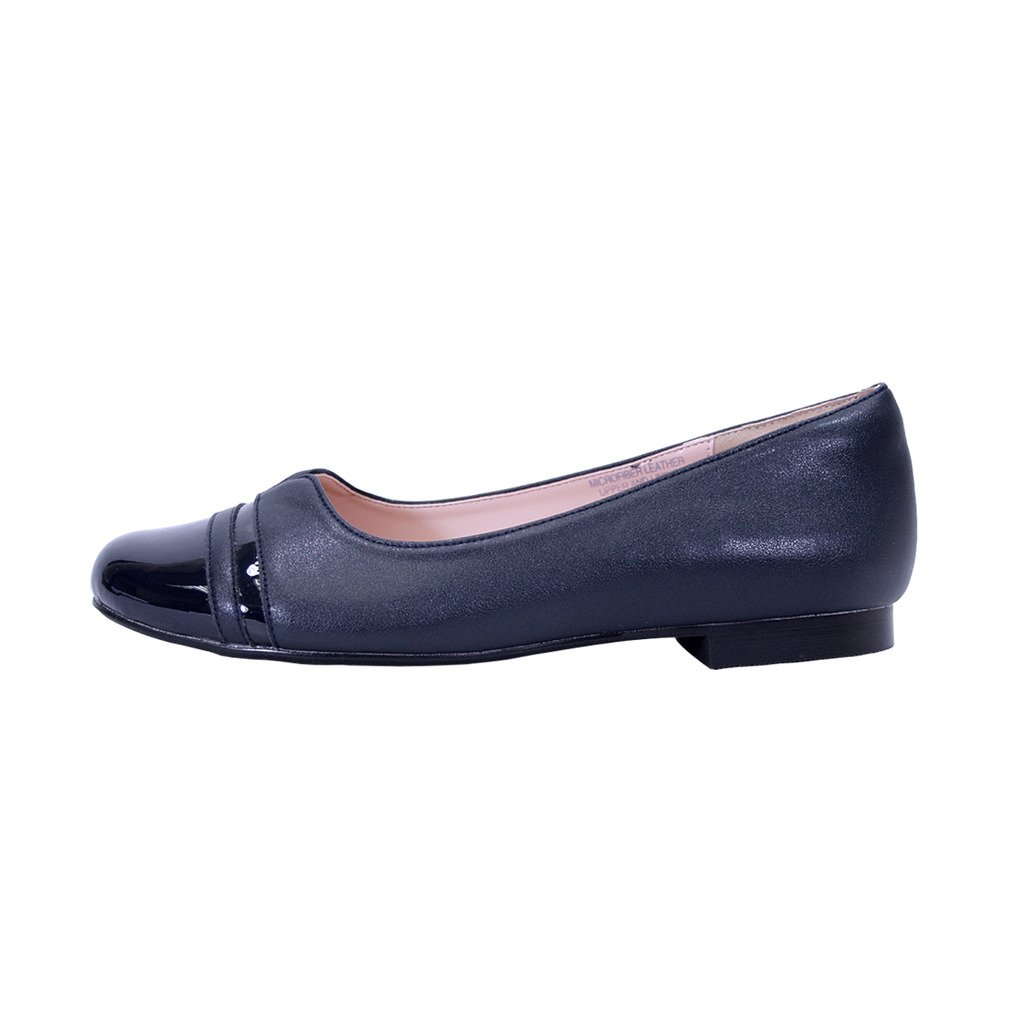Peerage Marina Women Wide Width Round Toe Casual Dress Skimmer Flats (Size & Measurement Chart Available) B07BK7KD5T 9.5 E|Blue