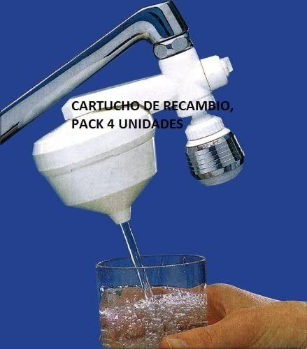 Filtro de agua para grifo, RECAMBIO OFERTA – PACK AHORRO 4 ...