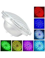 Par56 LED zwembad, LED zwembadverlichting onderwater 54W AC 12V, RGB met afstandsbediening zwembadverlichting, wit 6000K, IP68 onderwaterverlichting vervangende 500W halogeenspot (Par56 54W-RGB)