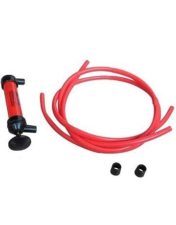 Laurelmartina Red Plastic Durable Ligero Auto Car Multiuso Agua Aceite Bomba de Combustible Transferencia Pipa de
