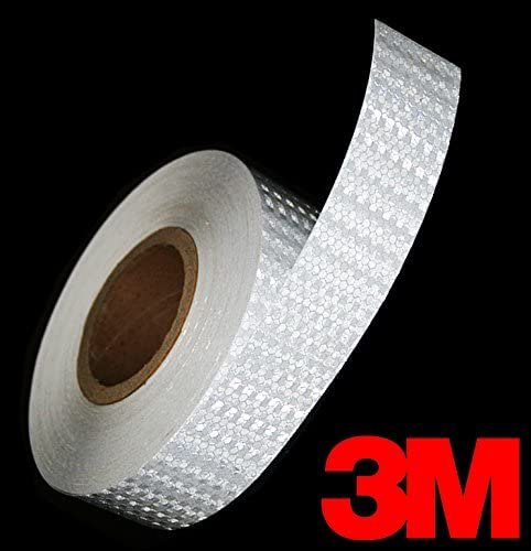 3M High Intensity Silver White Adhesive Diamond Reflective Automotive Vinyl Tape Roll 2 x 24