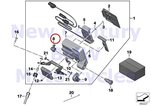 Bmw Navigation System (BMW Genuine Motorcycle Navigation System Prep Bracket Lock R1200GS R1200GS Adventure R1200R)
