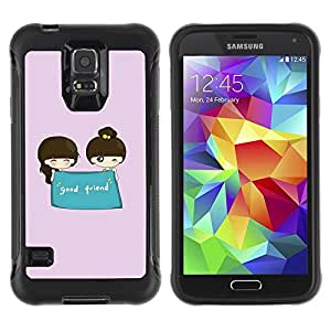 Suave TPU GEL Carcasa Funda Silicona Blando Estuche Caso de protección (para) Samsung Galaxy S5 V / CECELL Phone case / / Cute Good Friend /