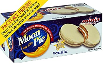 Get Your Favorite Mini MoonPie Packs - From the Chattanooga Bakery (12 Count Box) (Vanilla)