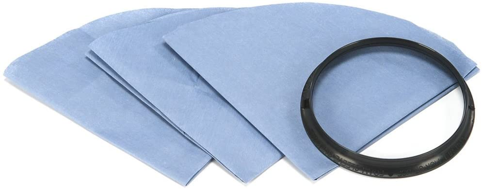 Shop Vac Reusable Dry Filter Disc, Filters & Mounting Ring - 6 Pack