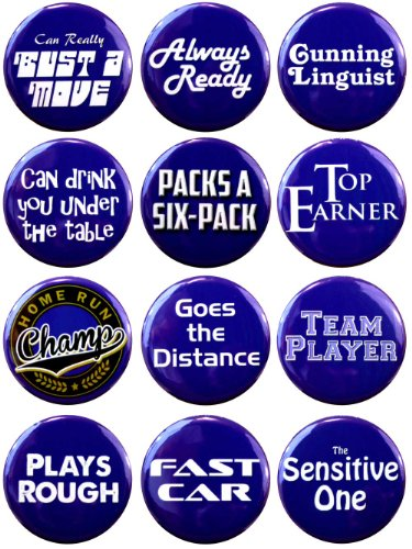 EmoMachine Bachelor Party Button Set (Bachelors Party Ideas)