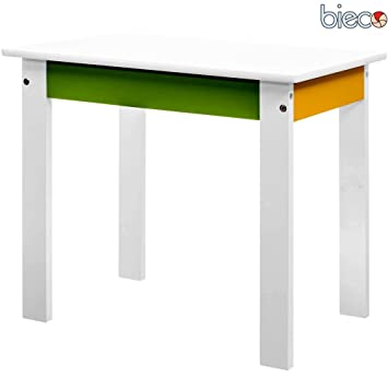 Kinderzimmermöbel weiß grün  Kindertisch aus Holz, farbig lackiert, weiss/grün/gelb, 55x40x47 ...