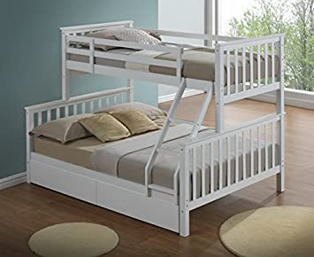 Artisan Beds White Triple Sleeper Bunk Bed Amazon Co Uk Kitchen Home