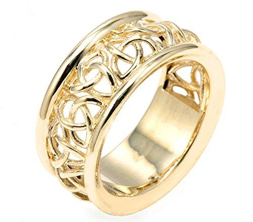 Men's 14k Yellow Gold Trinity Knot 9.5
