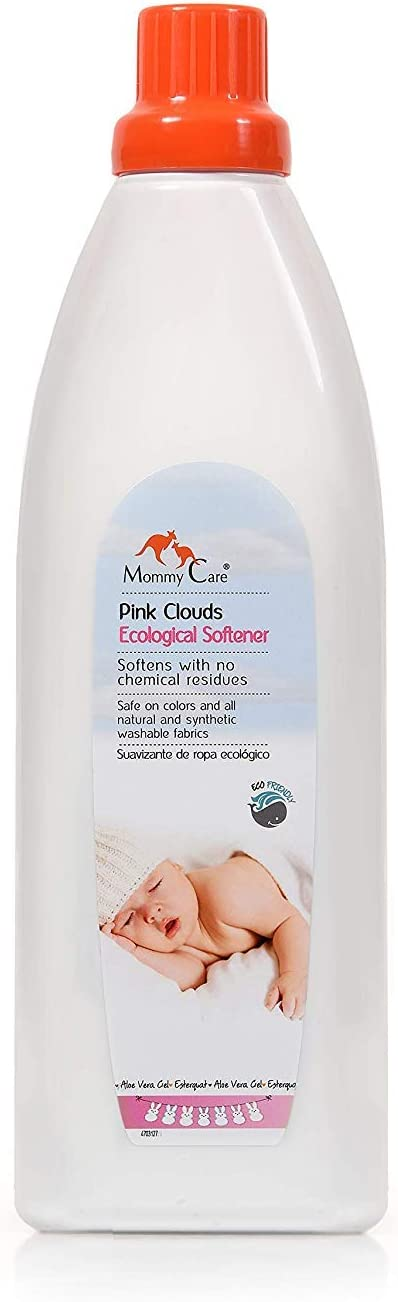 Mommy Care Eco Friendly Organic Fabric Softener - Pink Clouds Scent – Liquid Laundry Fabric Softener Safe for Babies and Sensitive Skin – Natural Ingredients 33.8 fl.oz