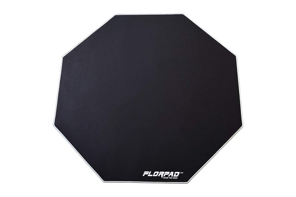 Florpad Silver Line Gaming Office Chair Mat | Protects All Floors | Liquid Resistant | Noise Cancelling | Smooth Surface 39.4'' x 39.4'' by FLORPAD GRAB THE EDGE