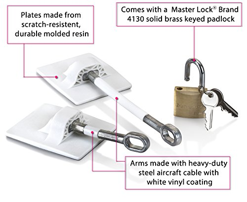 Refrigerator Door Lock with Padlock - White by Computer Security Products (Image #1)