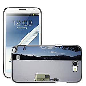 Hot Style Cell Phone PC Hard Case Cover // M00170106 Trailer Home Caravan Travel Lake // Samsung Galaxy Note 2 II N7100
