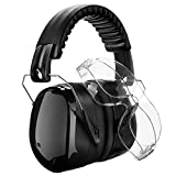 Tools & Hardware : Homitt Sound Ear Muffs Hearing Protection Ear Defenders with 2 Protective Shooting Glasses and Carry Bag for Shooting, Hunting, Working or Construction