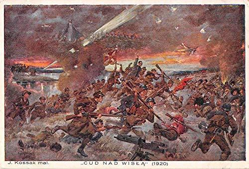 "Poland Polish Czech War""Cud Nad Wisla"" Military Antique Postcard J81164"