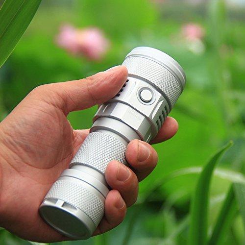 SC02 MTG2 5000K 26650 2000LM EDC LED Flashlight (Color Silver) by LEEPRA (Image #4)