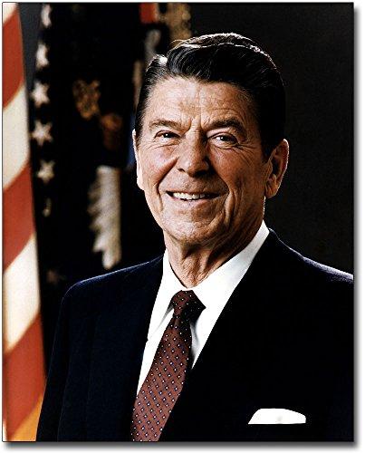 Portrait Reagan Ronald (President Ronald Reagan Portrait 8x10 Silver Halide Photo Print)