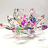 good energy decor - Amlong Crystal Sparkle Crystal Lotus Flower Feng Shui Home Decor with Gift Box, 3-Inch