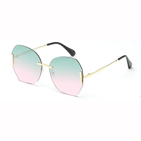 b9d16e4528 WX xin Frameless Sunglasses Female Personality Hipster Big-frame Glasses Net  Red Street Beat Drive