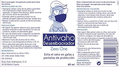 Disop Spray Antivaho para Gafas, Tratamiento Anti Vaho que Evita que se Empañen las Gafas, 60 ml 4