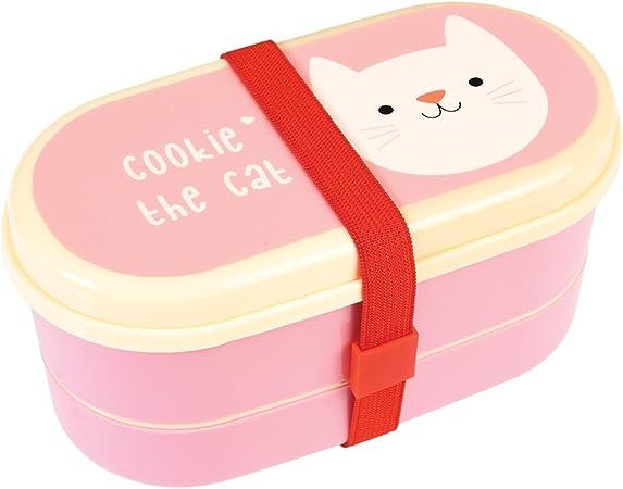 Porta meriendas térmico con cubiertos gato: Amazon.es: Hogar