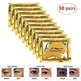 30 Pairs Under Eye Patches, Under Eye Bags Treatment Gold Under Eye Mask