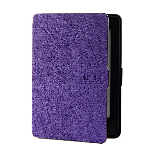 FANSONG E-reader PU Leather Slim Fit Smart Simple & Elegant Case Cover for New Kindle E-reader (Model:WP63GW) by FANSONG
