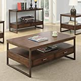 Coaster Industrial Brown/Rustic Brown Coffee Table with 2 Drawers