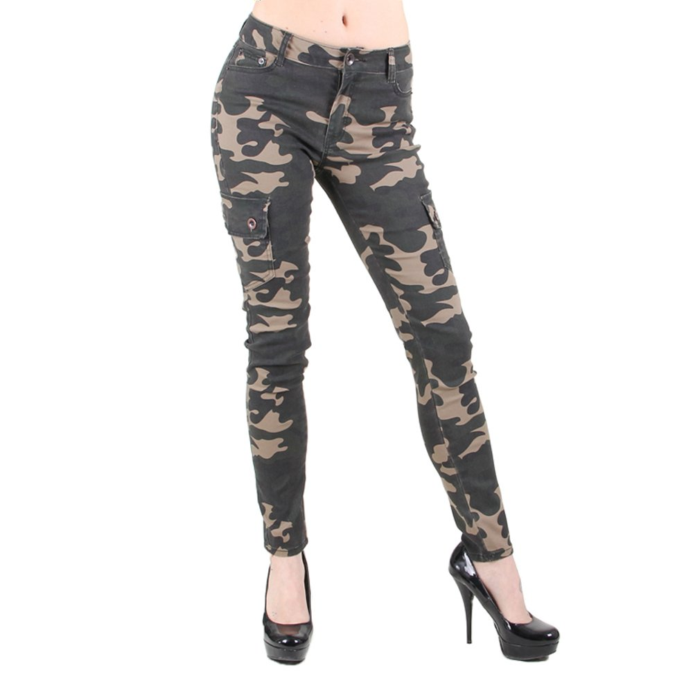 Red Fox Girls' Camo Skinny Cargo Pants