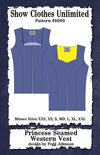 6000 - Misses Western Princess Seamed Western Vest ()