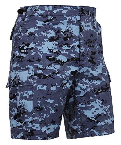 Go Commando Camo - Rothco P/C BDU Shorts, Sky Blue Digital Camo, Large