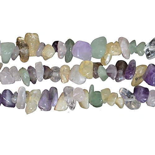 Assorted Mixed Color Crystal and Semi Precious Stone Irregular Chip Beads for Handmade Jewelry DIY Making Supplies Sold by 31 Inch