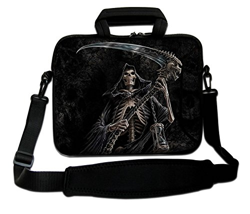 Design Laptop Notebook Sleeve Soft Case Bag With Handle and Shoulder Strap for Apple MacBook Air, MacBook, MacBook Pro, MacBook Pro Retina, MacBook Aluminum, Unibody, iBook, PowerBook Death