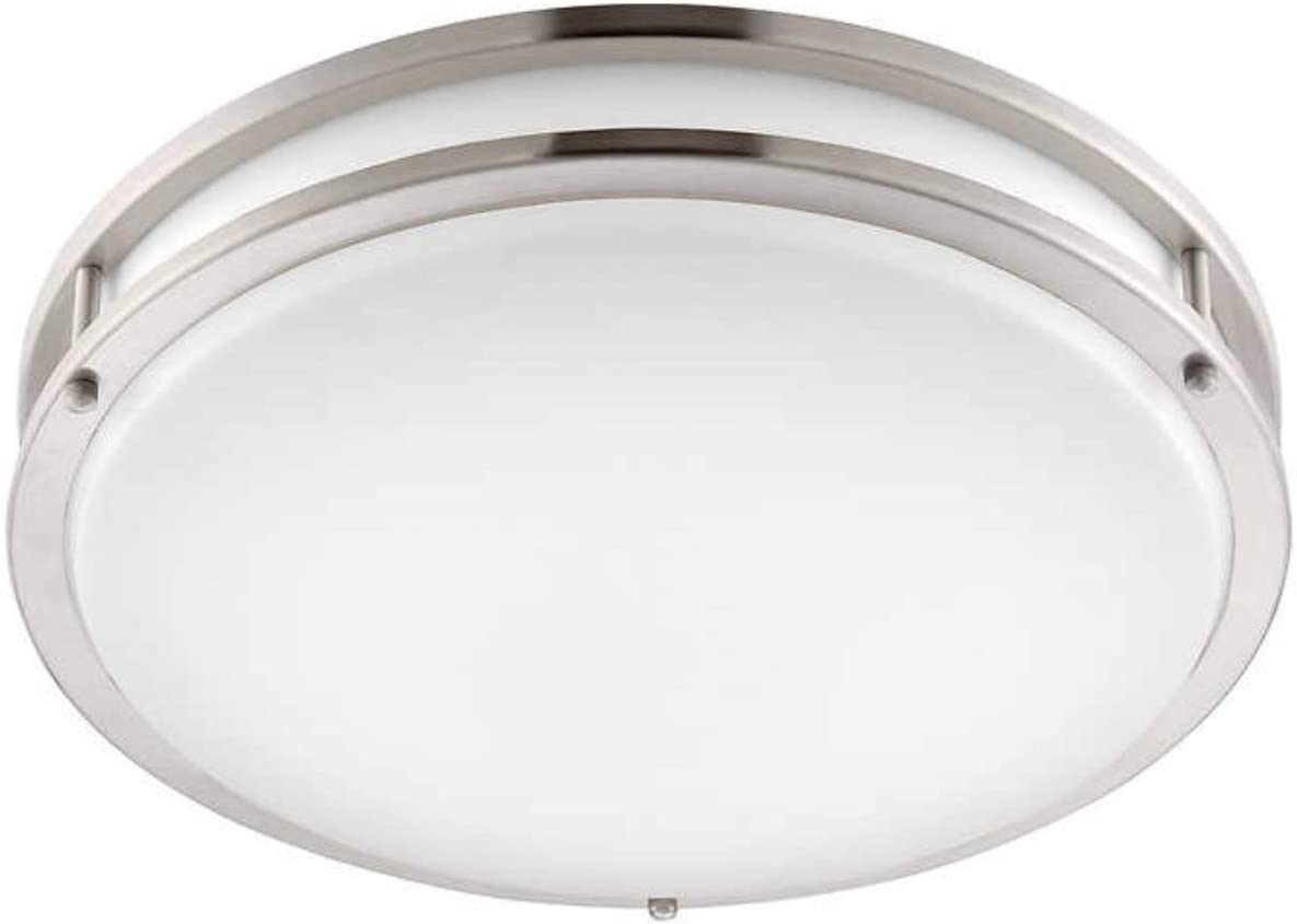 Altair Lighting Led 14 Inch Flush Mount Decorative Light Fixture 21w 120w Equivalent 3000k Brushed Nickel Finish Al 3151 By Altair Lighting