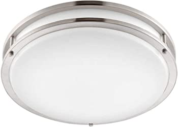 Altair Lighting LED 14-Inch Flushmount Brushed Nickel Light