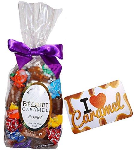 Bequet Caramels - Assorted Bag, Most Popular Mix - (Magnet Included) - 8oz Bag