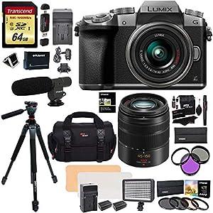 Panasonic DMC G7KS Mirrorless 4K Camera 14-42mm Lens Kit + Panasonic H-FS45150AK Lumix G Vario 45-150mm Lens + Transcend…