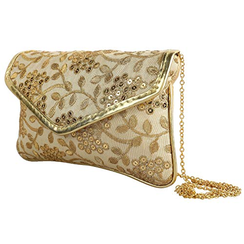 Craft Trade Embroidered Clutch Purse Wallet Handmade Rajasthani Designer Handbag For Women/Girls ()