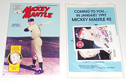 1991 MICKEY MANTLE COMIC BOOK ISSUE #1 BRAND NEW SEALED MAGNUM COMICS NY YANKEES