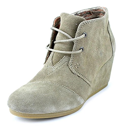 b9b917aa5fd Galleon - TOMS Women s Desert Wedge Taupe Suede Boot 11 B (M)