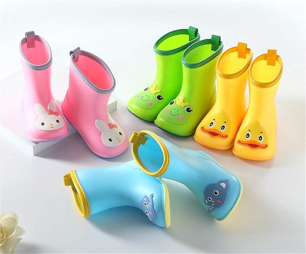 MO MOKER Kids Rain Boots Toddler//Little Kid//Big Kid Sizes Assorted Colors,Green,14