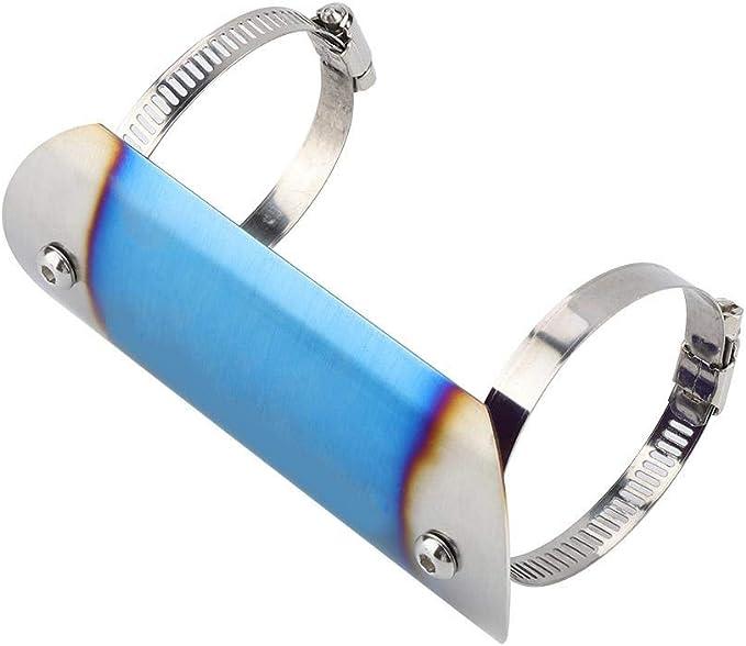Moto Protecteur De Tuyau D/échappement En Acier Inoxydable Moto /Échappement Moyen Tuyau Bouclier Thermique Lien Tube Protecteur Couverture Talon Garde # 2