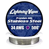 LV Stainless Steel 316L Wire 34 AWG - 500'