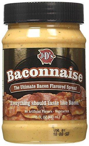 J&D Baconnaise Regular Mayonnaise, Bacon, 15 Ounce