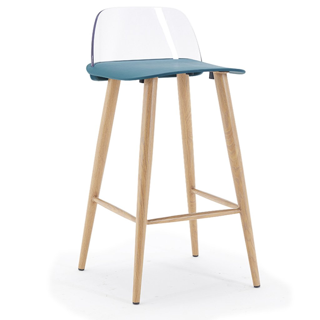 bluee Bar Chair Household high Stool + 79.5cm -by TIANTA (color   RED)
