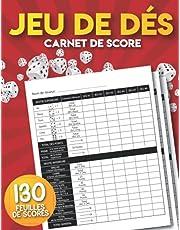 Jeu de Dés: Carnet de Score: 130 Feuilles de Scores Parfaites pour les Jeux de Dés