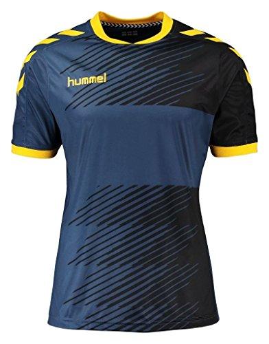Hummel Herren T-Shirt Liga Jersey, Vintage Indigo/Sports Yellow, S, 03-668-8725