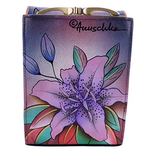 Cross Lilies Bag 412 Body Denim Luscious Anuschka fvz5q4n4